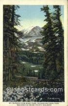 trn001900 - Mt Rainier From Spray Park, Washington, WA USA Trains, Railroads Postcard Post Card Old Vintage Antique
