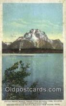 trn001903 - Stately Mount Moran, Grand Teton National Park, Wyoming, WY USA Trains, Railroads Postcard Post Card Old Vintage Antique