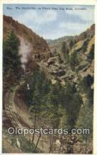 trn001908 - The Stepladder, Pikes Peak, Colorado, CO USA Trains, Railroads Postcard Post Card Old Vintage Antique