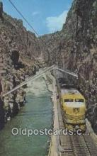 trn001909 - Hanging Bridge, Royal Gorge, Colorado, CO USA Trains, Railroads Postcard Post Card Old Vintage Antique