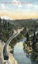 trn001921 - Sacramento River, Mt Shasta, California, CA USA Trains, Railroads Postcard Post Card Old Vintage Antique