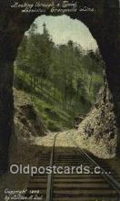 trn001922 - Tunnel, Lewiston Grangeville Line Trains, Railroads Postcard Post Card Old Vintage Antique