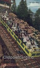 trn001924 - incline Car, Mt Manitou, Manitou, Colorado, CO USA Trains, Railroads Postcard Post Card Old Vintage Antique