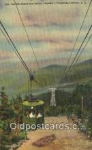 trn001937 - Cannon Mountain Aerial Tramway, Franconia Notch, New Hampshire, NH USA Trains, Railroads Postcard Post Card Old Vintage Antique