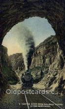 trn001943 - Canyon Scene From Railroad Tunnel Trains, Railroads Postcard Post Card Old Vintage Antique