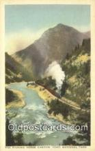 trn001954 - The Kicking Horse Canyon, Yoho National Park, USA Trains, Railroads Postcard Post Card Old Vintage Antique