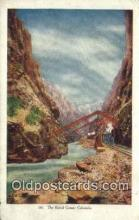 trn001957 - Royal Gorge, Colorado, CO USA Trains, Railroads Postcard Post Card Old Vintage Antique