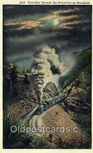 trn001966 - Rockies By Night, Colorado, CO USA Trains, Railroads Postcard Post Card Old Vintage Antique