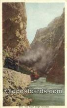 trn001974 - Royal Gorge, Colorado, CO USA Trains, Railroads Postcard Post Card Old Vintage Antique