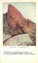 trn001975 - Signal Point, Moffat Rock, Colorado, CO USA Trains, Railroads Postcard Post Card Old Vintage Antique