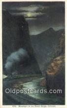 trn001980 - Royal Gorge By Night, Colorado, CO USA Trains, Railroads Postcard Post Card Old Vintage Antique