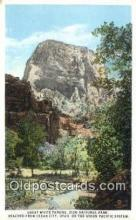 trn001981 - Great White Throne, Zion National Park, UPRR, Cedar City, Utah, UT USA Trains, Railroads Postcard Post Card Old Vintage Antique
