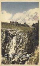 trn001987 - Snow Crowned Mt Rainier, Washington, WA USA Trains, Railroads Postcard Post Card Old Vintage Antique