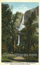 trn001989 - Yosemite Falls, California, CA USA Trains, Railroads Postcard Post Card Old Vintage Antique