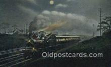 trn002012 - Miland Railway, Leeds Express, England Trains, Railroads Postcard Post Card Old Vintage Antique