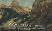trn002015 - Cathedral Mountain, CPR Train, Canadian Rockies Trains, Railroads Postcard Post Card Old Vintage Antique