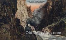 trn002020 - Royal Gorge, Colorado, CO USA Trains, Railroads Postcard Post Card Old Vintage Antique