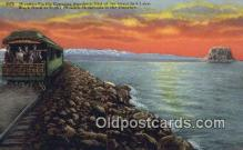 trn002028 - Western Pacific, Great Salt Lake, Utah, UT USA Trains, Railroads Postcard Post Card Old Vintage Antique