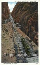 trn002043 - incline, Royal Gorge, Colorado, CO USA Trains, Railroads Postcard Post Card Old Vintage Antique
