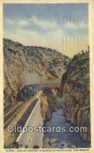 trn002046 - Apache Canyon, Golrietta Mountains, New Mexico, NM USA Trains, Railroads Postcard Post Card Old Vintage Antique