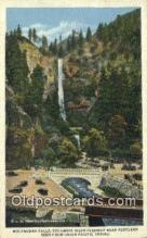 trn002047 - Multnomah Falls, Columbia River Highway, Portland, Oregon, OR USA Trains, Railroads Postcard Post Card Old Vintage Antique