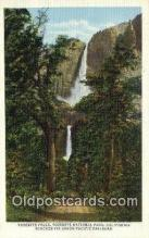 trn002056 - Yosemite Falls, California, CA USA Trains, Railroads Postcard Post Card Old Vintage Antique