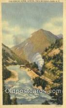 trn002059 - The Kicking Horse Canyon, Yoho National Park, USA Trains, Railroads Postcard Post Card Old Vintage Antique