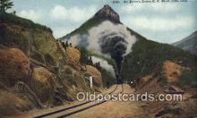 trn002068 - St Peters Dome, Short Line Limited, Colorado, CO USA Trains, Railroads Postcard Post Card Old Vintage Antique