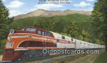 trn002074 - Rocky Mountain Rocket, Pike Peak, Colorado, CO USA Trains, Railroads Postcard Post Card Old Vintage Antique