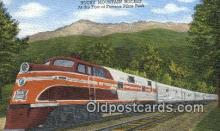 trn002076 - Rocky Mountain Rocket, Pike Peak, Colorado, CO USA Trains, Railroads Postcard Post Card Old Vintage Antique