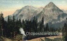 trn002082 - Cascade Mountains, Washington, WA USA Trains, Railroads Postcard Post Card Old Vintage Antique