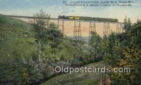trn002084 - Lawyers Canyon Trestle, Camas Prairie Railroad, Lewiston Grangeville, Idaho, USA Trains, Railroads Postcard Post Card Old Vintage Antique