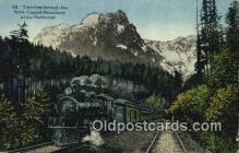 trn002085 - Snow Caped Mountains Trains, Railroads Postcard Post Card Old Vintage Antique