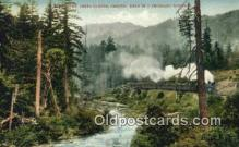 trn002087 - Cow Creek Canyon, Oregon, OR USA Trains, Railroads Postcard Post Card Old Vintage Antique
