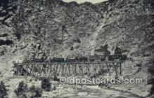 trn002088 - Devils Gate, Weber Canyon, Utah, UT USA Trains, Railroads Postcard Post Card Old Vintage Antique