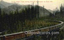 trn002102 - ON Freight Train, Essex Hill Trains, Railroads Postcard Post Card Old Vintage Antique