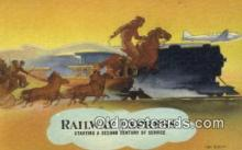 trn002104 - Railway Express  Trains, Railroads Postcard Post Card Old Vintage Antique
