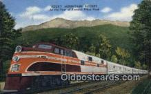 trn002110 - Rocky Mountain Rocket, Pike Peak, Colorado, CO USA Trains, Railroads Postcard Post Card Old Vintage Antique