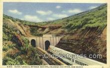 trn002111 - Raton Tunnels, Trinidad, Colorado, CO USA Trains, Railroads Postcard Post Card Old Vintage Antique