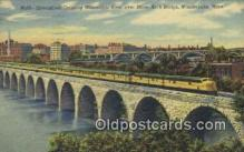 trn002112 - Streamliner, Over Mississippi River, Minneapolis, Minnesota, MN USA Trains, Railroads Postcard Post Card Old Vintage Antique