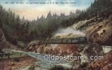 trn002124 - The Old Mine, Southern Oregon, OR USA Trains, Railroads Postcard Post Card Old Vintage Antique