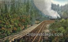 trn002129 - Dollarhide Trestle Trains, Railroads Postcard Post Card Old Vintage Antique