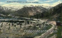 trn002135 - The Sierras, Overland Route Trains, Railroads Postcard Post Card Old Vintage Antique