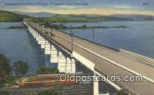 trn002138 - Susquehanna River Bridge, Harrisburg, Pennsylvania, PA USA Trains, Railroads Postcard Post Card Old Vintage Antique