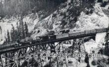 trn002147 - Mighty Mountain Mallet No. 253, Keddie Wye Bridge Trains, Railroads Postcard Post Card Old Vintage Antique