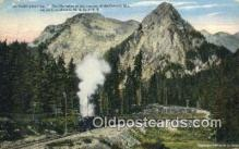 trn002151 - The Olympian Summit Of The Cascade Mountains, Washington, WA USA Trains, Railroads Postcard Post Card Old Vintage Antique