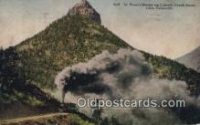 trn002156 - St Peters Dome Cripple Creek Short Line, Colorado, CO USA Trains, Railroads Postcard Post Card Old Vintage Antique