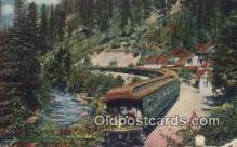 trn002160 - Shasta Springs, California, CA USA Trains, Railroads Postcard Post Card Old Vintage Antique
