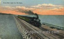 trn002162 - Great Salt Lake Cut Off, Utah, UT USA Trains, Railroads Postcard Post Card Old Vintage Antique