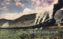 trn002164 - San Francisco Chicago Express, Soldiers Summit, Utah, UT USA Trains, Railroads Postcard Post Card Old Vintage Antique